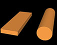 Copper-Rectangular-Bar-Round-Rod